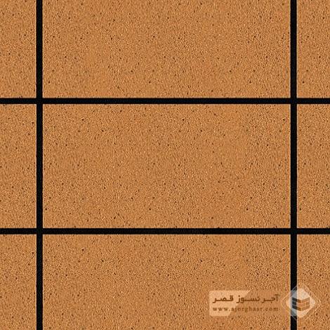آجر نسوز پلاک ساده شاموتی 400x200x30mm