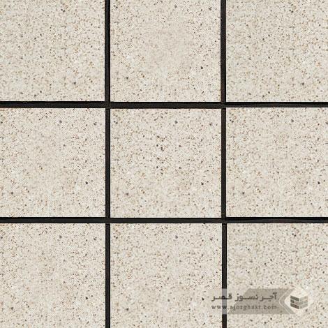 آجر نسوز کف ساده سفید صدفی 200x200x27mm