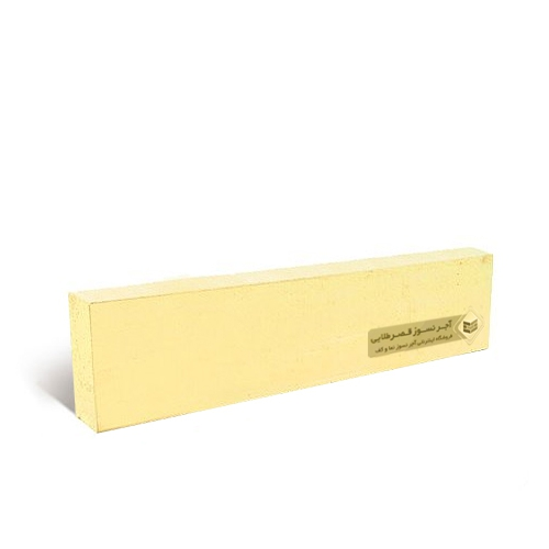 آجرنما رسی پلاک زرد 200x55x22mm