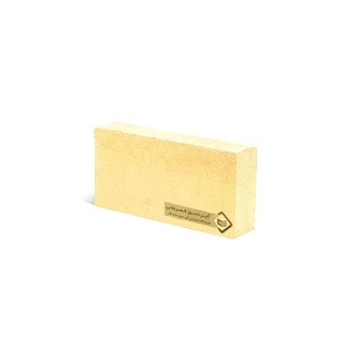 آجرنما رسی نیمه پلاک زرد 100x40x22mm