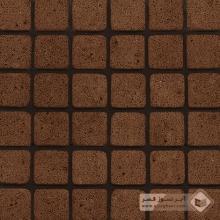آجر نسوز پلاک آنتیک قهوه ای 100x100x30mm