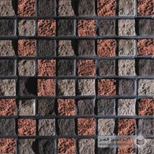 آجر نسوز پلاک صخره ای رندوم (مشکی-قهوه ای-انگلیسی) 70x70mm