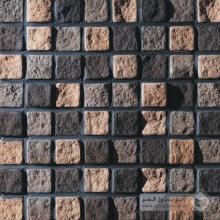 آجر نسوز پلاک صخره ای رندوم (مشکی-قهوه ای-شاموتی) 70x70mm