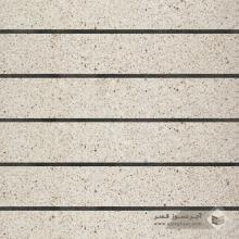 آجر نسوز پلاک ساده سفید صدفی 600x100x30mm