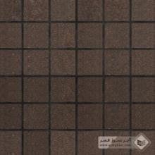 آجر نسوز پلاک ساده قهوه ای 100x100x25mm