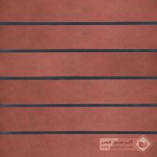 آجر شیل پلاک ساده قرمز تیره 600x100x25mm