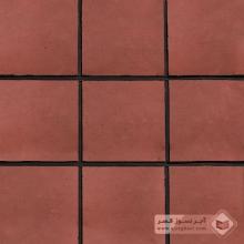 آجر شیل پلاک ساده قرمز تیره 200x200x25mm