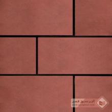 آجر شیل پلاک ساده قرمز تیره 400x200x25mm