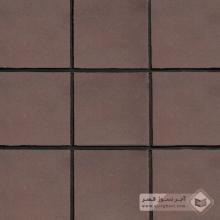 آجر شیل پلاک ساده قهوه ای 200x200x25mm